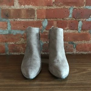Stuart Weitzman Grey Suede Ankle Booties
